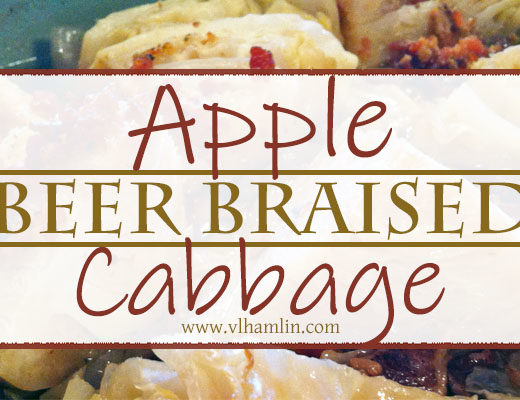 Apple Beer Braised Cabbage