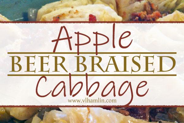 Apple Beer Braised Cabbage