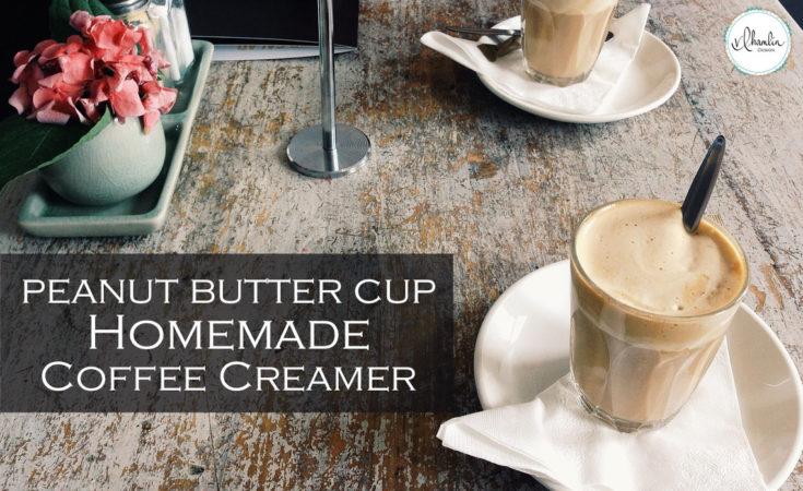 Homemade Peanut Butter Cup Coffee Creamer