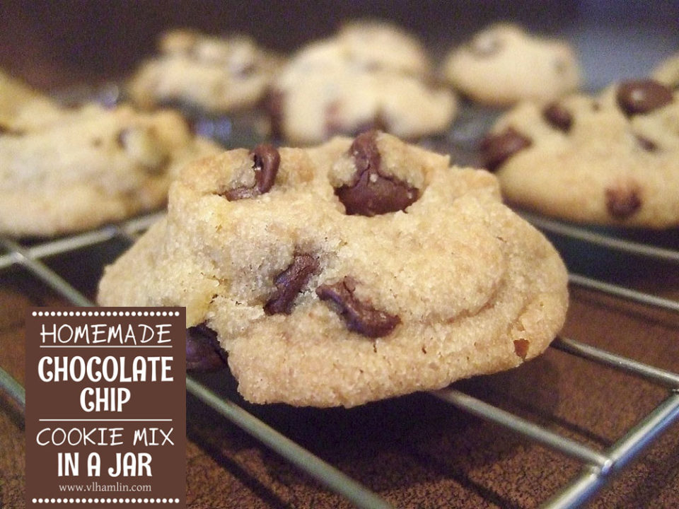 Homemade Chocolate Chip Cookie Mix in a Jar