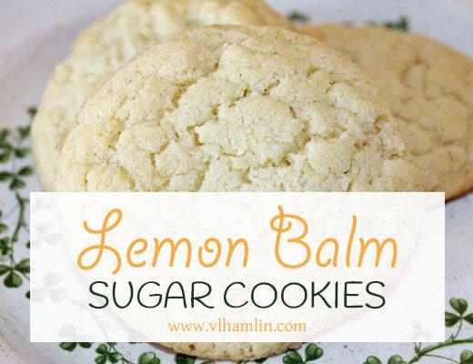 Lemon Balm Sugar Cookies