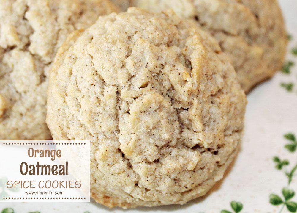 Orange Oatmeal Spice Cookies 2