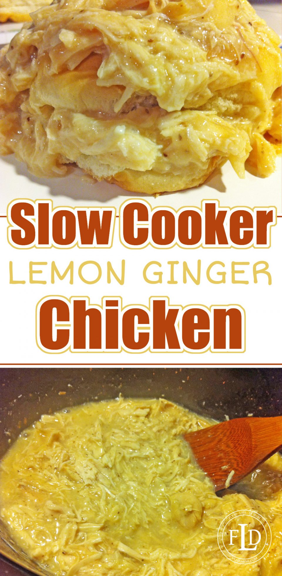 Slow Cooker Lemon Ginger Chicken