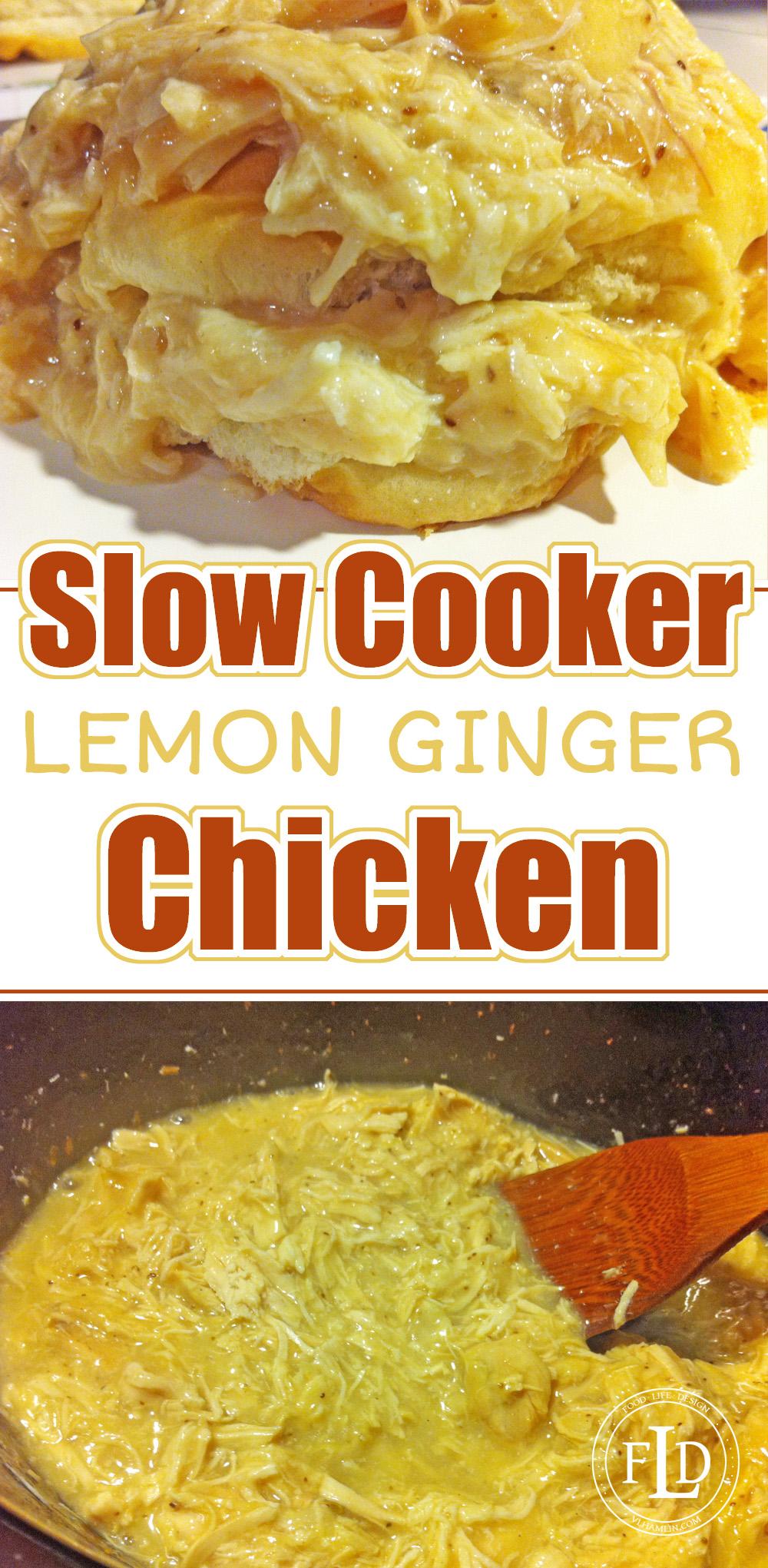 Slow Cooker Lemon Ginger Chicken