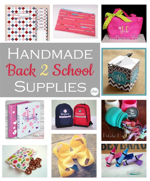 Handmade Back to School Supplies