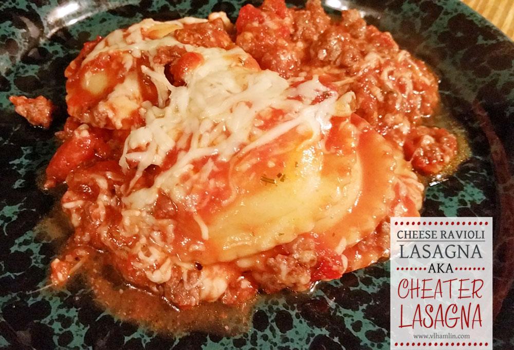 Cheese Ravioli Lasagna AKA Cheater Lasagna 4