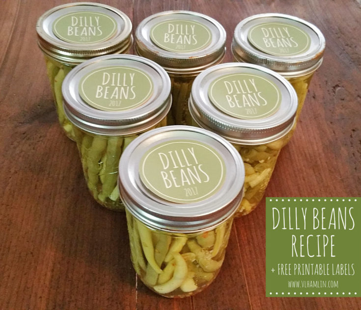 Pickled Green Beans AKA Dilly Beans + Free Printable Labels