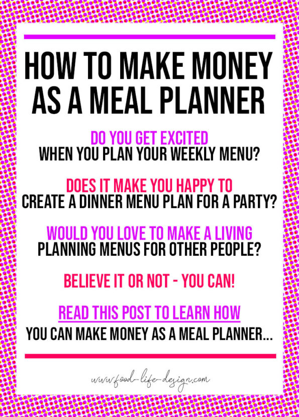 How to Make Money as a Meal Planner - Food Life Design