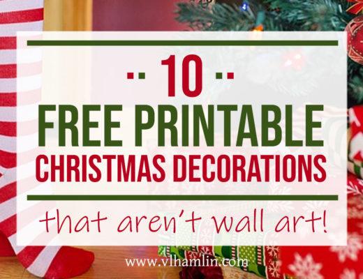 10 Free Printable Christmas Decorations | Food Life Design
