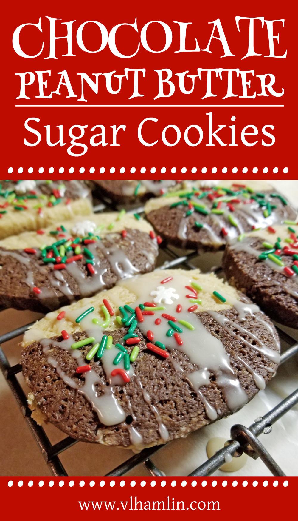 Chocolate Peanut Butter Sugar Cookies