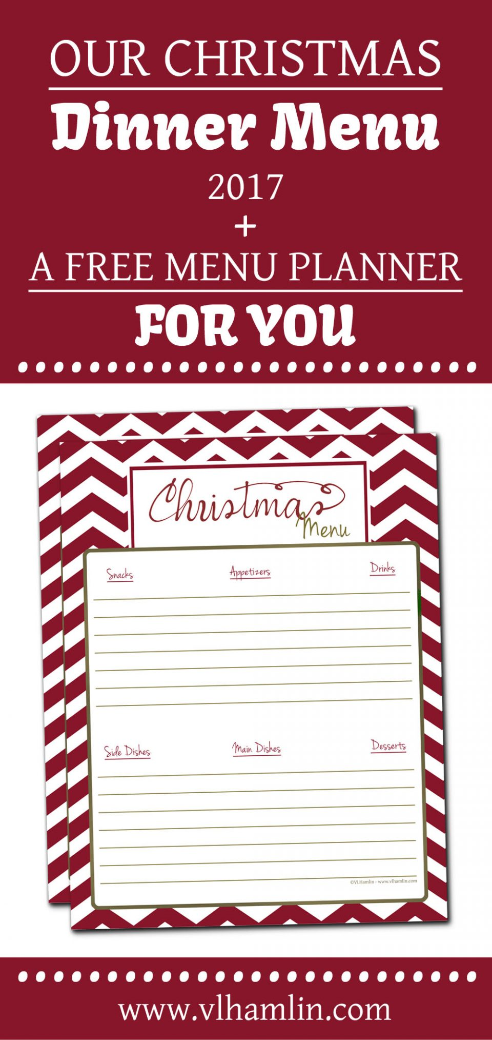 Our Christmas Dinner Menu + Free Printable Menu Planner