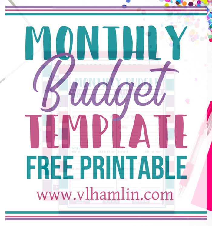 Bright Stripes Monthly Budget Template Free Printable
