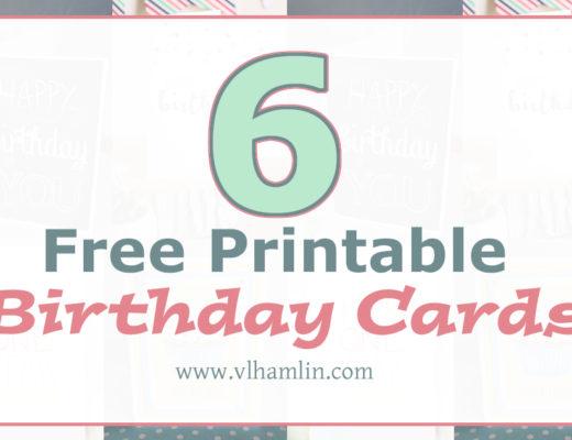 6 Free Printable Birthday Cards
