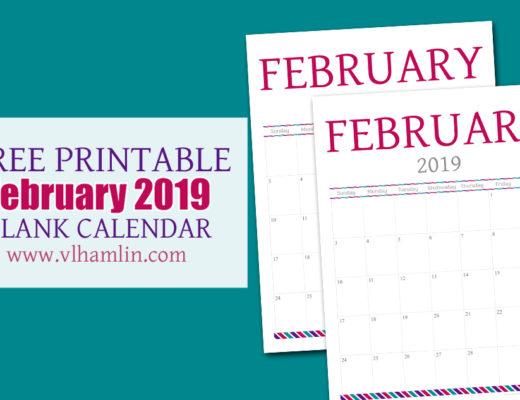 Free Printable Calendar - February 2019