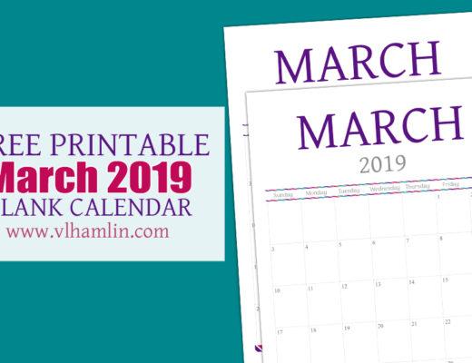 Free Printable Calendar - March 2019