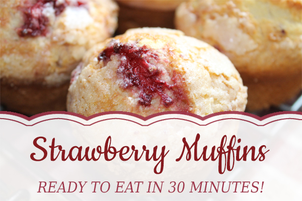 Fresh Strawberry Muffins | Ready in 30 Minutes!