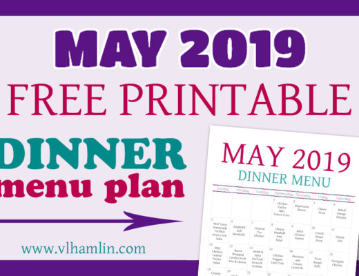 May Dinner Menu Plan