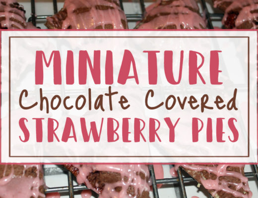 Miniature Chocolate Covered Strawberry Pies