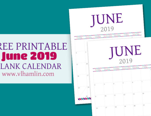 Free Printable Calendar - June 2019
