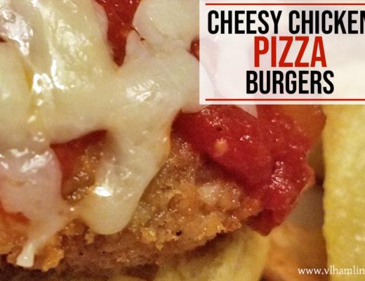 Chicken Pizza Burgers Recipe - FEATURED