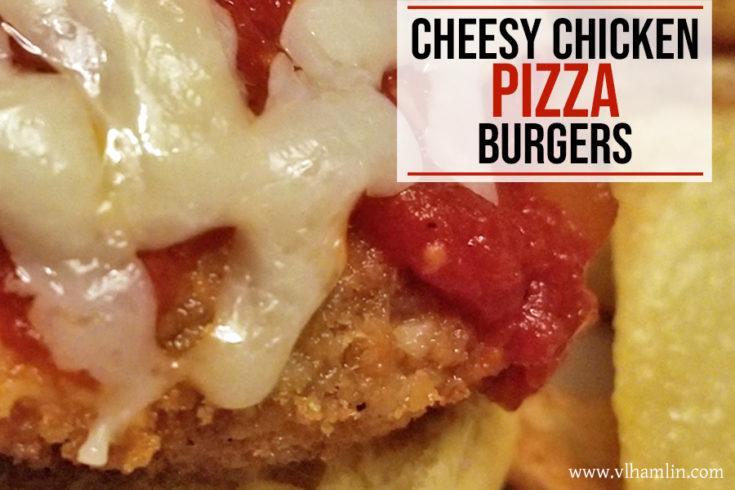 Cheesy Chicken Pizza Burgers