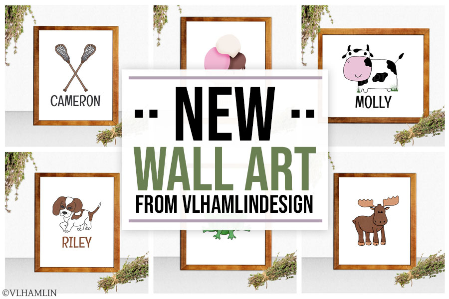 New Wall Art from VLHamlinDesign