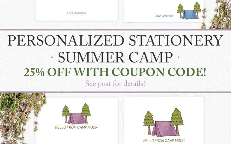 Summer Camp Stationery for Kids | Food Life Design