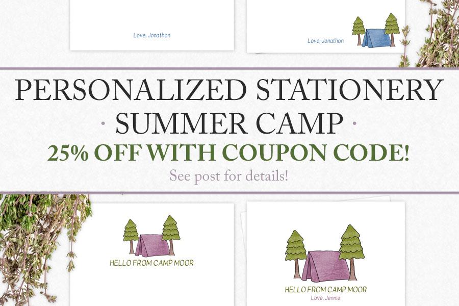 Summer Camp Stationery for Kids   Food Life Design