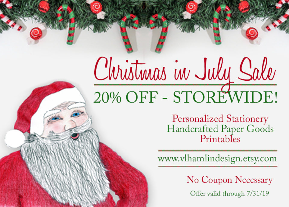 Christmas in July Sale at VLHamlinDesign