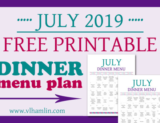 July 2019 Dinner Meal Plan | Food Life Design