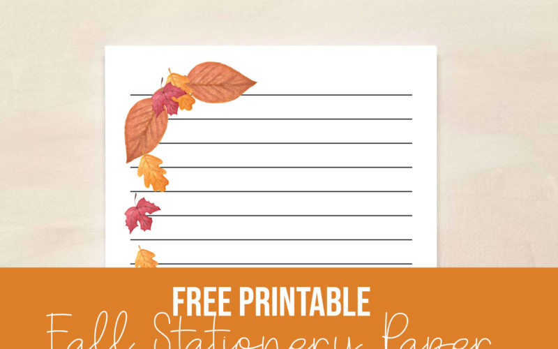 Free Fall Leaves Stationery paper | Food Life Design