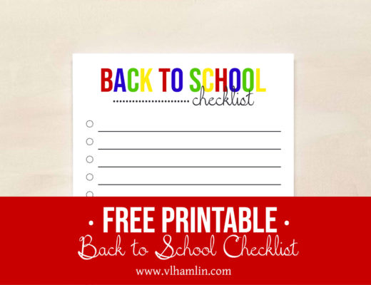 Free Printable Back to School Checklist | Food Life Design