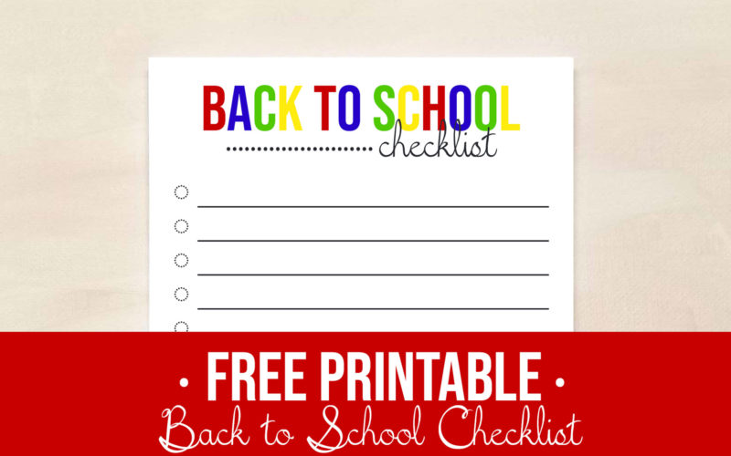 Free Printable Back to School Checklist | Food Life Design