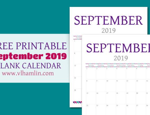 Free Printable September Calendar | Food Life Design