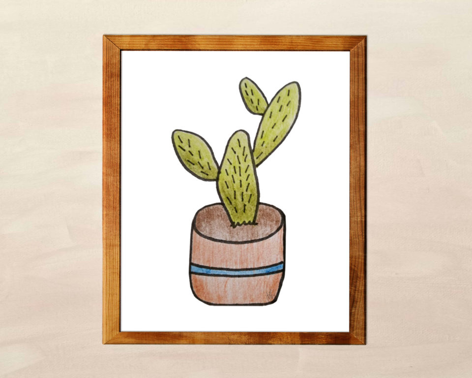 Free Printable Cactus Wall Art from VLHamlinDesign
