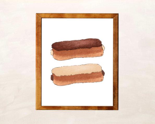 Free Printable Eclair Wall Art - Food Life Design