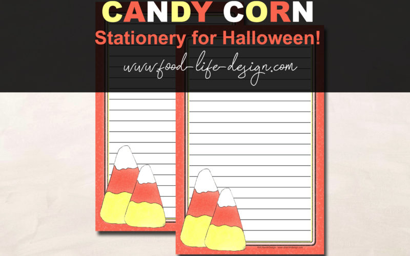 Free Printable Halloween Stationery - Food Life Design
