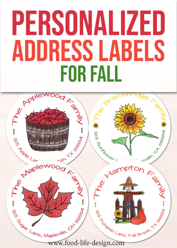 Personalized Address Labels for Fall - Food Life Design