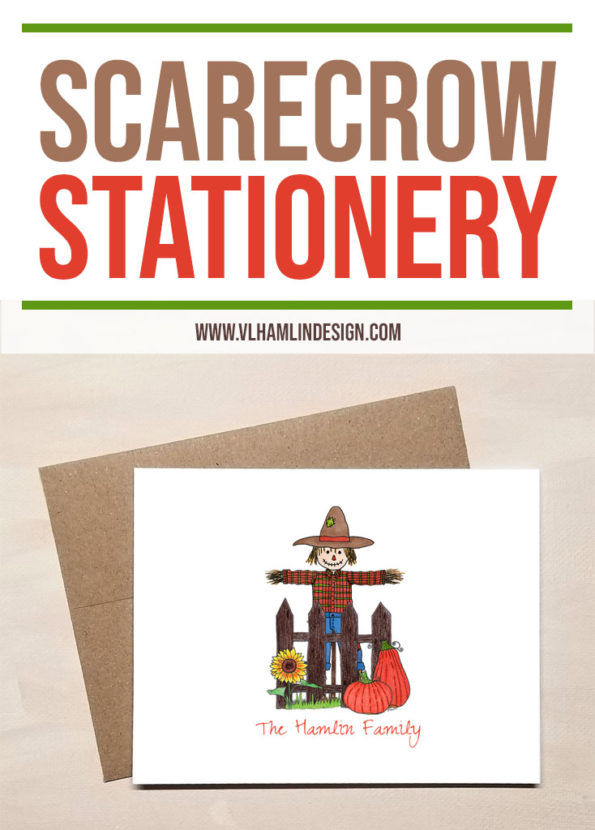 Scarecrow Stationery for Fall - Food Life Design