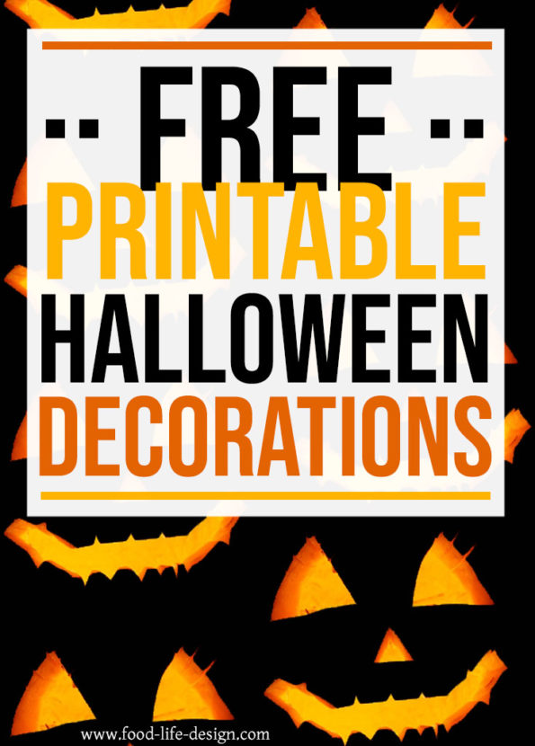 Free Printable Halloween Decorations - Food Life Design