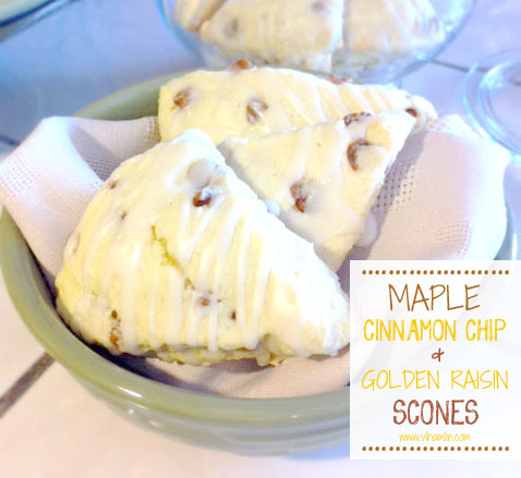 Maple Cinnamon Chip and Golden Raisin Scones 3