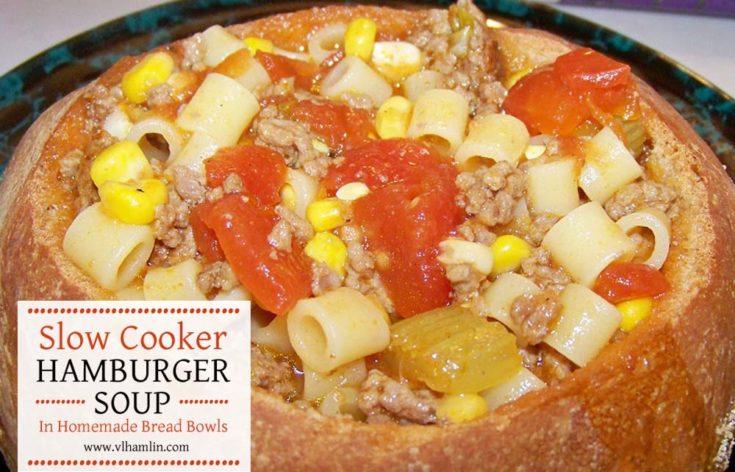slow cooker hamburger soup 1