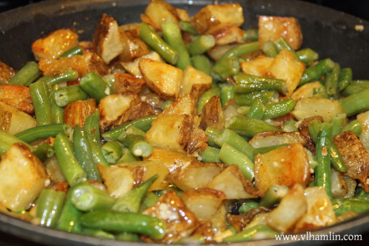 Roasted Garlic Potatoes and Green Beans | Food Life Design
