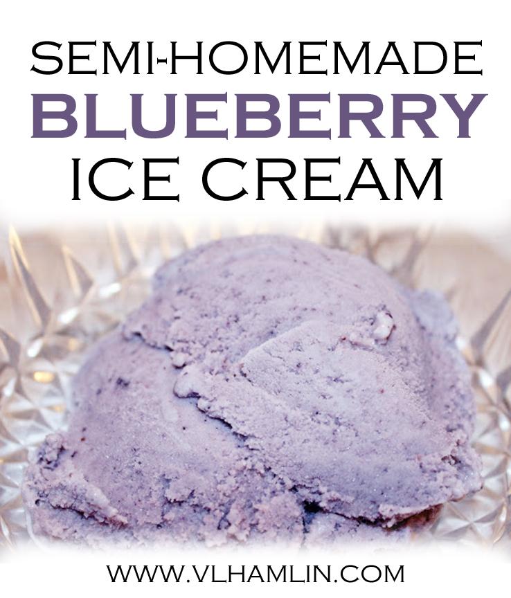 Semi-Homemade Blueberry Ice Cream