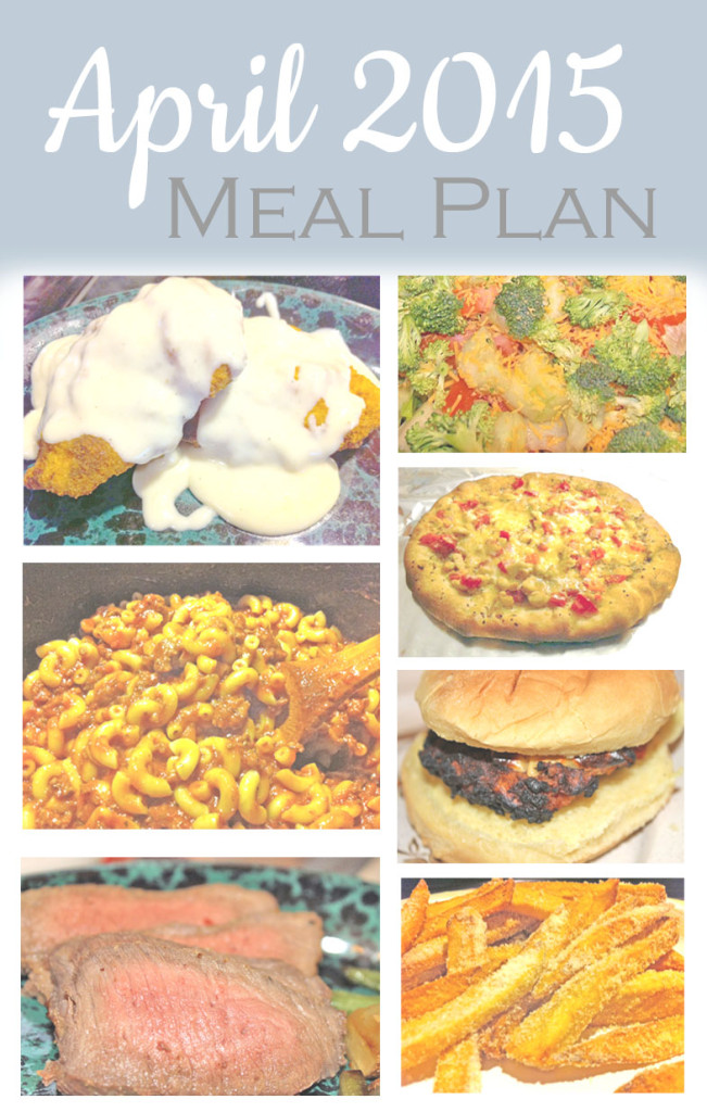 April 2015 Meal Plan
