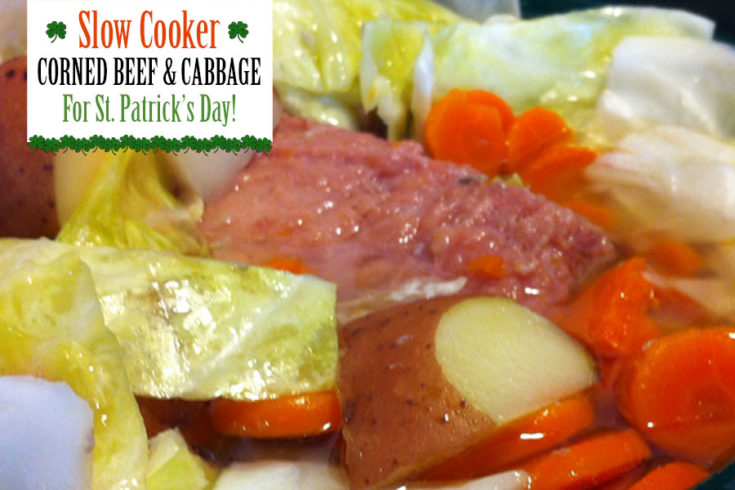 Slow Cooker Corned Beef and Cabbage for St Patricks Day - Food Life Design