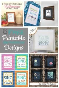 6 Free Printable Bathroom Designs