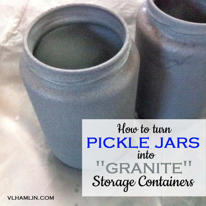 How to Turn Pickle Jars into Granite Storage Containers