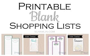 Printable Blank Shopping Lists