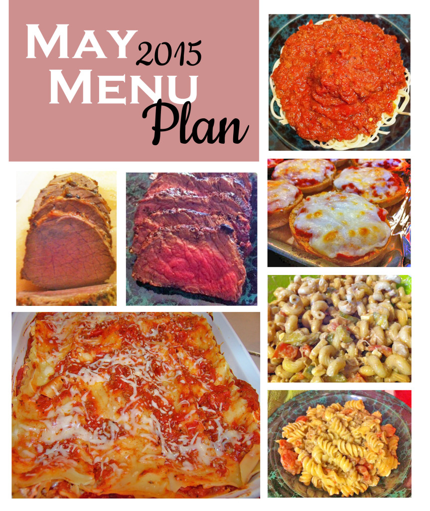 May 2015 Menu Plan